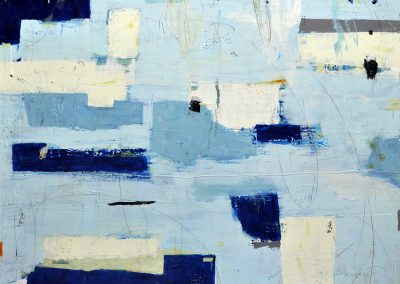 Above Seas by Julie Weaverling. 40x30. mixed media. Sold.