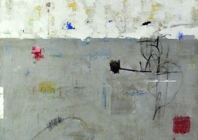 Borderline by Julie Weaverling. 40x30. mixed media. Sold.