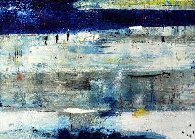 Breathing Space by Julie Weaverling. 49x30. mixed media. Sold.