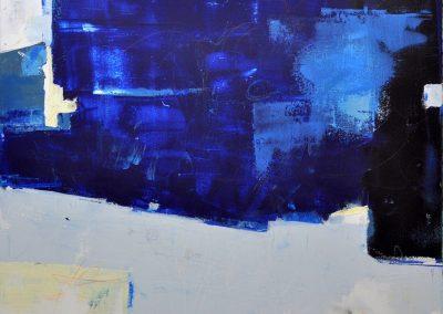 Coastal Spirit by Julie Weaverling. 36x36. mixed media. Sold.