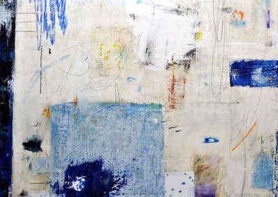 Dive In by Julie Weaverling. 49x30 mixed media. Sold.