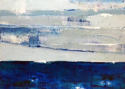 I Always Return to the Sea by Julie Weaverling. 40x30. mixed media. Sold.