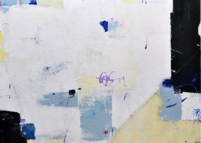 In Joy by Julie Weaverling. 36x36. mixed media. Sold.