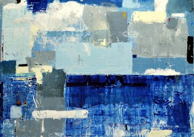 Inner Calm by Julie Weaverling. 49x30. mixed media. Sold.
