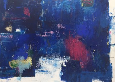 Into the Deep by Julie Weaverling. 40x30. mixed media. Sold.