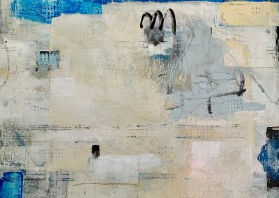 It's About the Journey by Julie Weaverling. 36x36 mixed media.