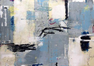 Lingering by Julie Weaverling. 40x30 mixed media. Sold.