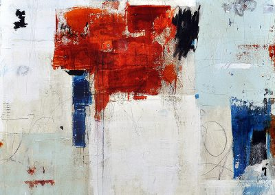 Revel in the Day by Julie Weaverling. 36x36 mixed media. Sold.