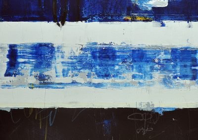Sea Change by Julie Weaverling. 36x36. mixed media. Sold.