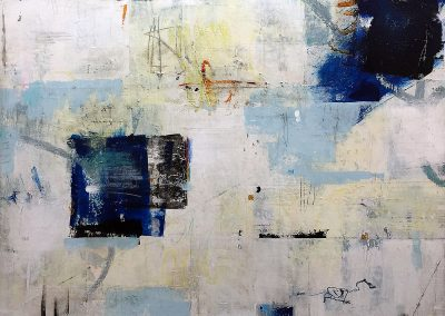 The Day Awaits by Julie Weaverling. 36x36 mixed media. Sold.