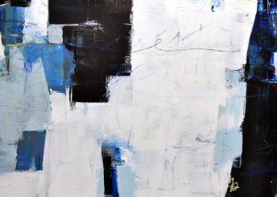 Things Like Happiness by Julie Weaverling. 40x30. mixed media.