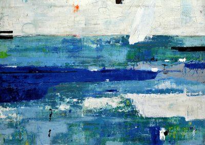Unfolding by Julie Weaverling. 40x30 mixed media. Sold.
