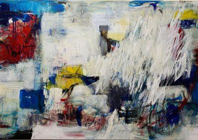 Joy Ride, by Julie Weaverling, mixed media, 40 x 60