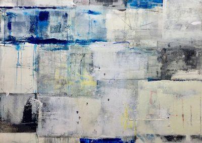 Listen, by Julie Weaverling, mixed media, 40 x 30
