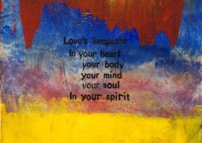 Love's Keepsake, by Julie Weaverling, with poetry by Elizabeth Weaverling