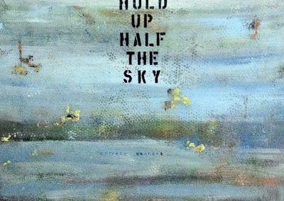 Women Hold up Half the Sky, by Julie Weaverling, mixed media, 48 x 60